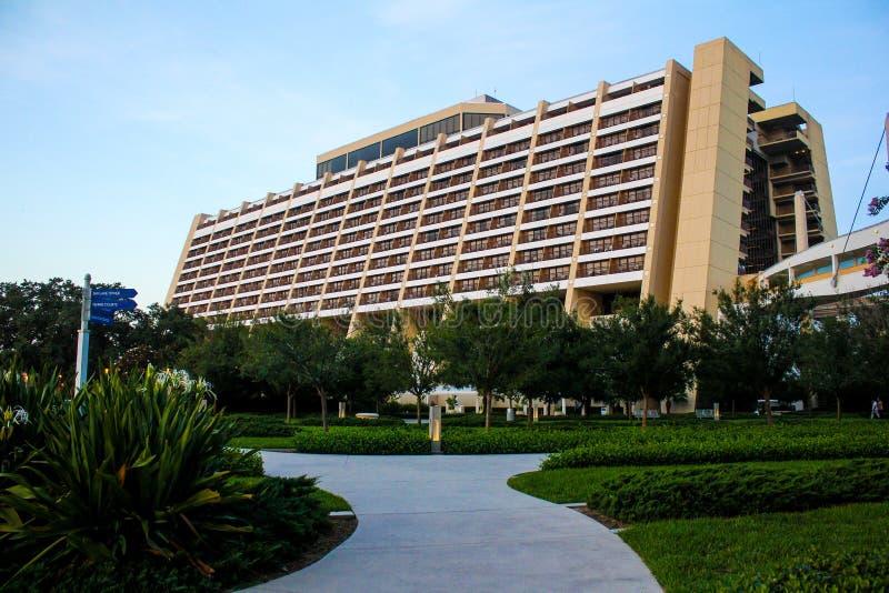 El centro turístico contemporáneo de Disney, Orlando, la Florida fotografía de archivo