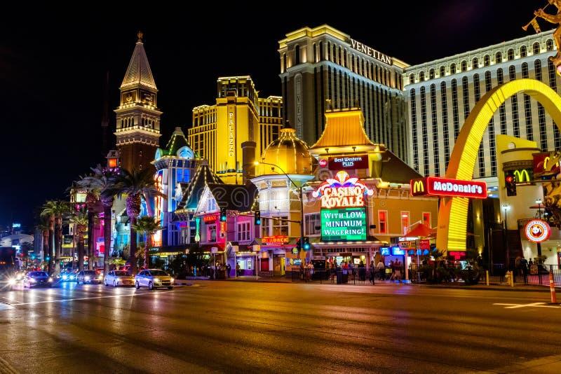 El centro turístico veneciano del casino en Las Vegas foto de archivo libre de regalías