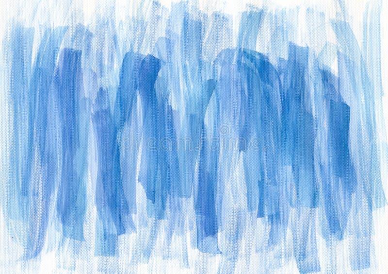 El cepillo azul de la acuarela frota ligeramente el fondo stock de ilustración
