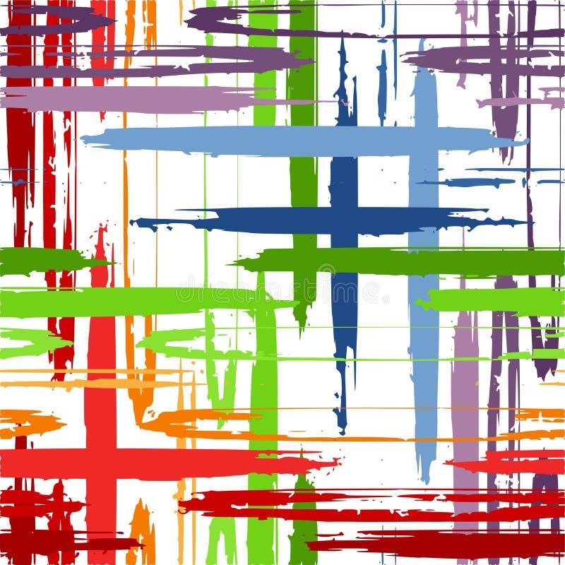 El cepillo colorido abstracto frota ligeramente textura del fondo libre illustration