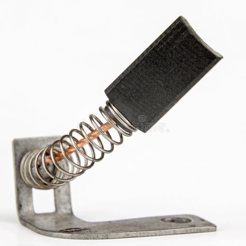 El cepillo de carbón también llamó el cepillo del generador imágenes de archivo libres de regalías