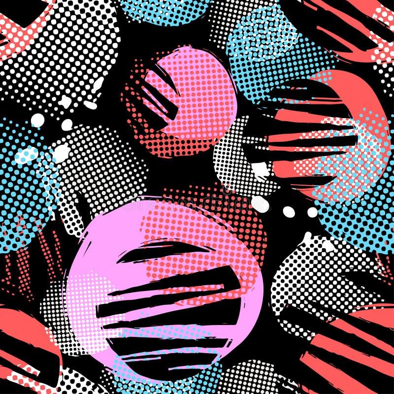 El cepillo de repetición inconsútil de la tinta de la materia textil frota ligeramente el modelo en el garabato g libre illustration