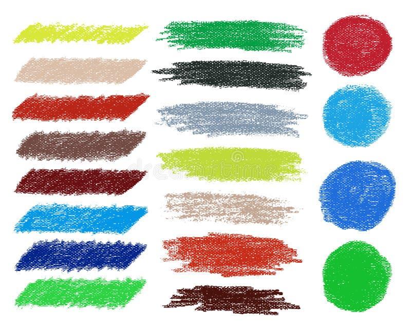 El cepillo del vector del arco iris frota ligeramente la colección libre illustration