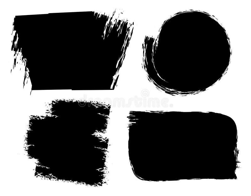 El cepillo frota ligeramente fondos del grunge ilustración del vector