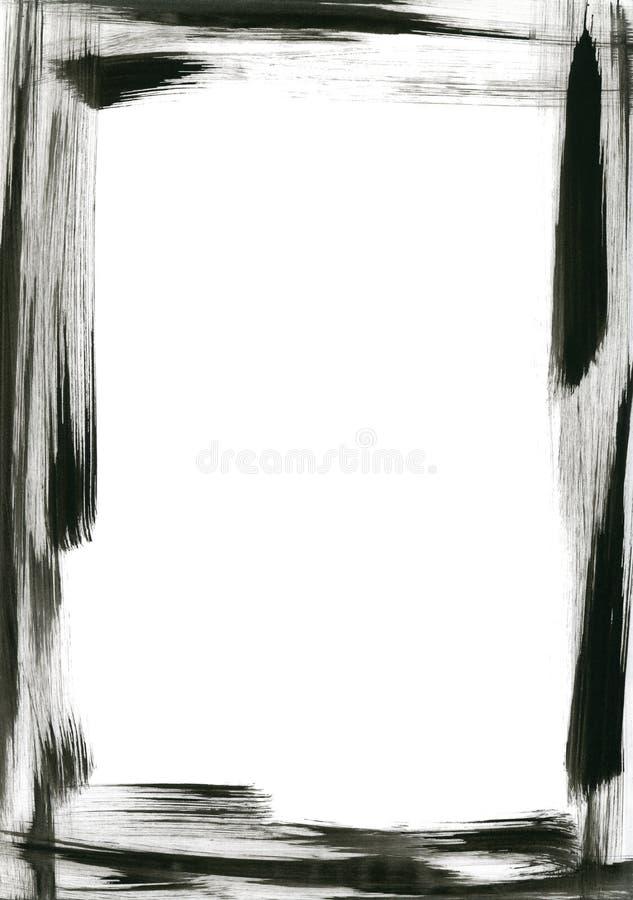 El cepillo negro frota ligeramente el marco imagen de archivo