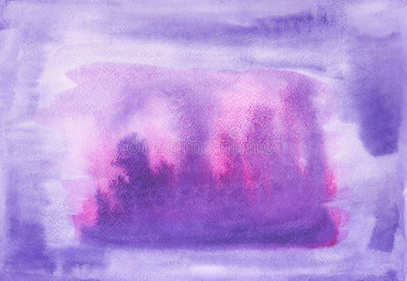 El cepillo pintado a mano abstracto frota ligeramente el fondo Mezcla de acrílico y de acuarela Textura colorida decorativa para  ilustración del vector