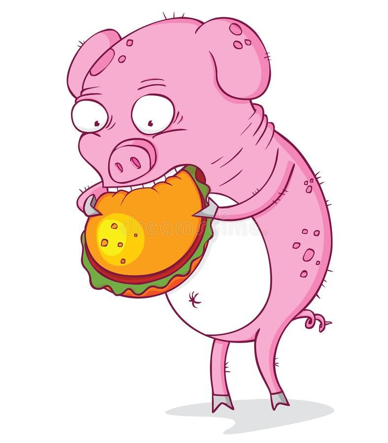 El cerdo codicioso libre illustration