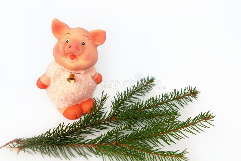 El cerdo es una muestra china del zodiaco Tratamiento por ordenador foto de archivo libre de regalías