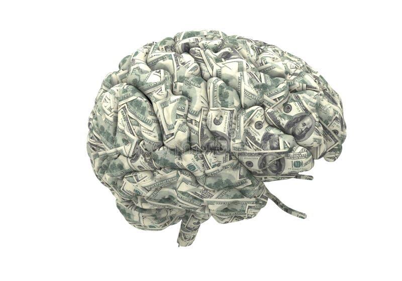 Download El Cerebro Elegante Puede Ganar Más Dinero Stock de ilustración - Ilustración de neurología, máscara: 42442930