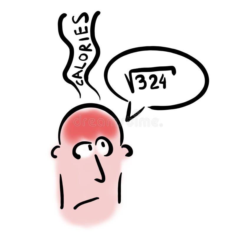 El cerebro quema calorías stock de ilustración