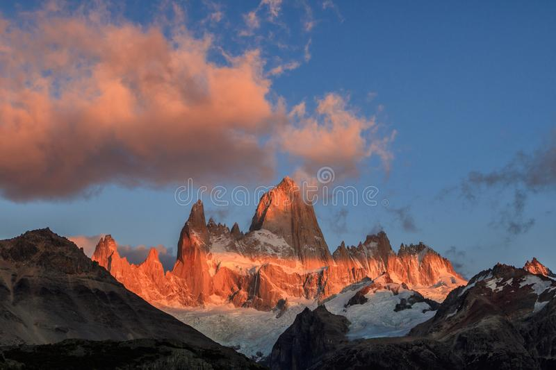 El Chalten, the magical town in autumn. El Chalten is located in the Argentine Patagonia. royalty free stock images