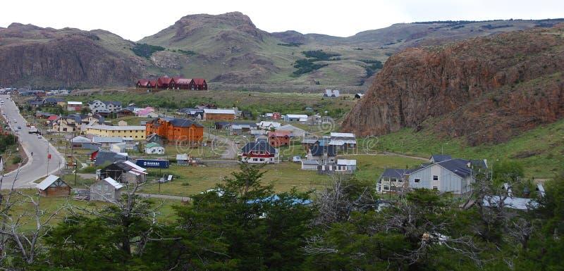 El Chalten patagonia typowy dom mała górska wioska fotografia stock