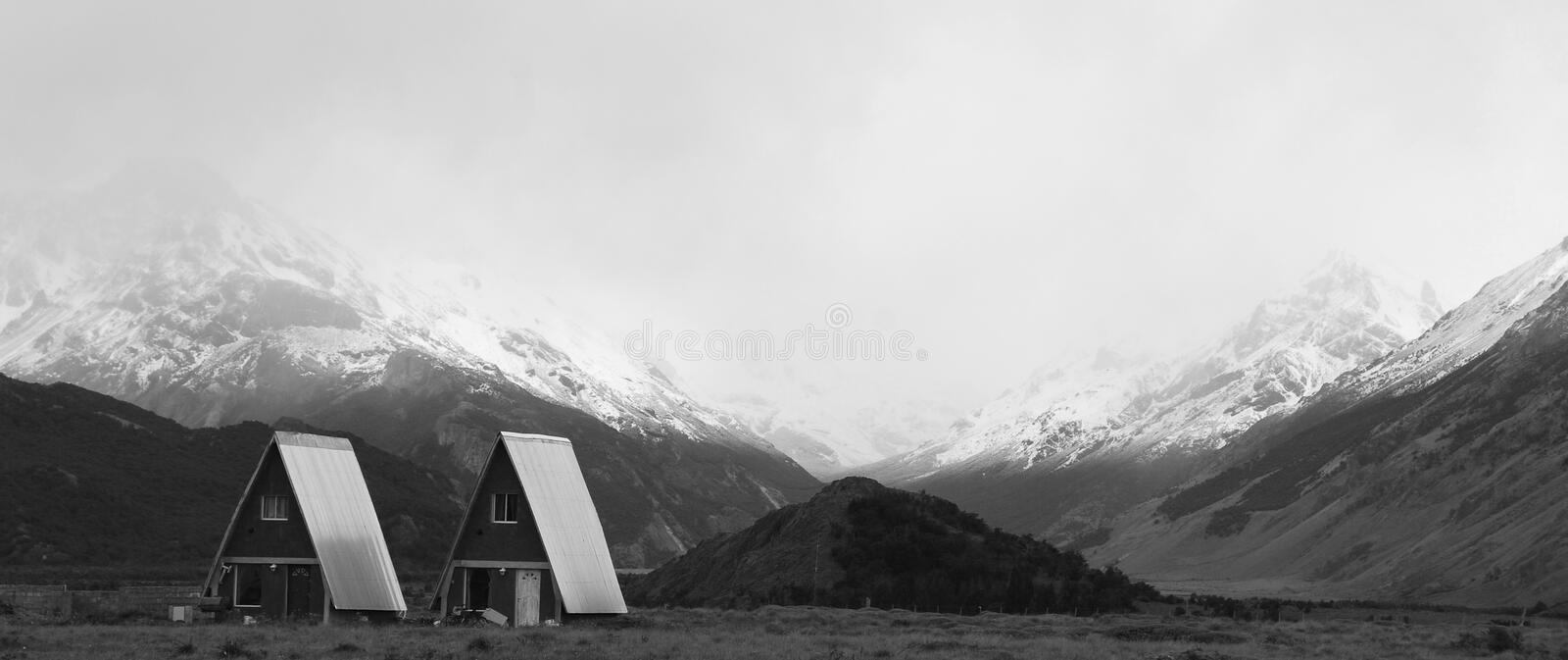 El Chalten typical patagonia house of small mountain village royalty free stock photos
