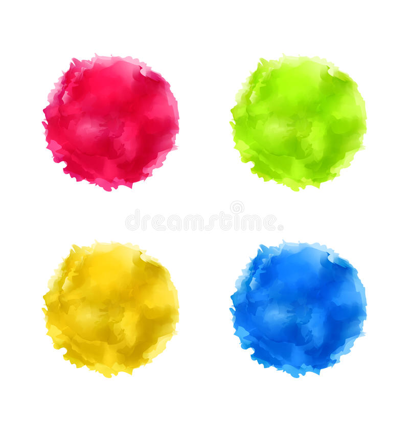 El chapoteo abstracto determinado de la acuarela, pintura colorida circunda libre illustration
