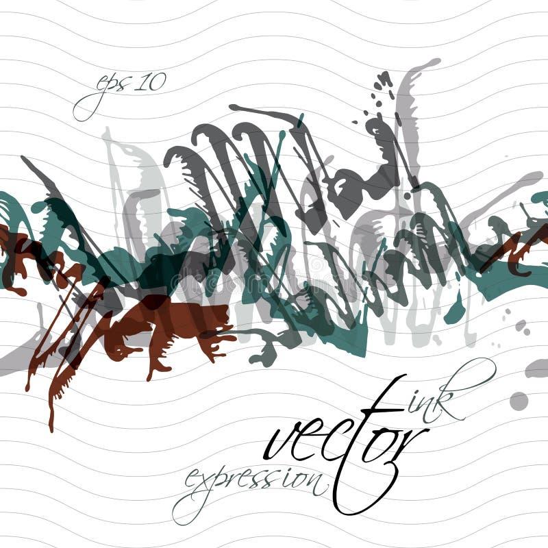 El chapoteo colorido de la pintada de la acuarela cubrió los elementos, expresivos ilustración del vector