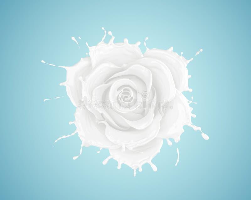 El chapoteo de la flor de la leche subió foto de archivo libre de regalías