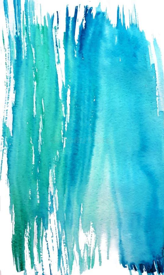 El chapoteo del agua en acuarela stock de ilustración