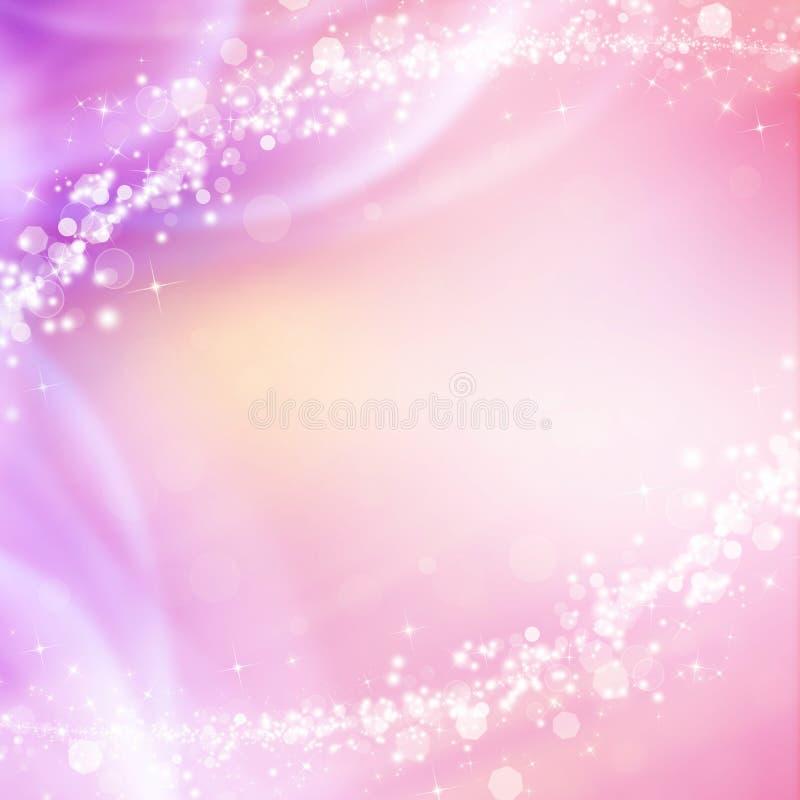 El chispear rosado y fondo abstracto brillante de la Navidad fotos de archivo