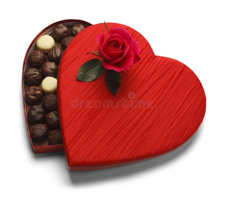 El chocolate de la tarjeta del día de San Valentín imagen de archivo libre de regalías