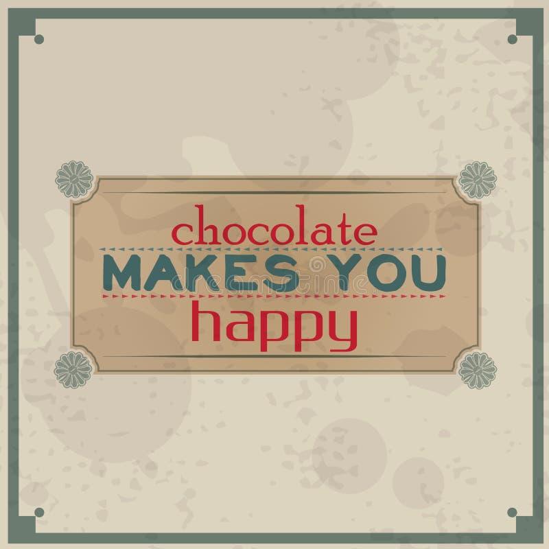 El chocolate le hace feliz libre illustration