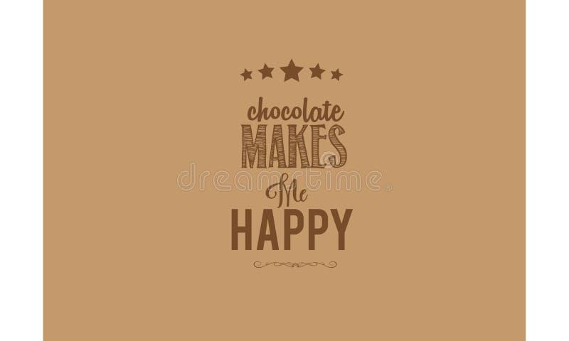 El chocolate me hace cita feliz del registro libre illustration