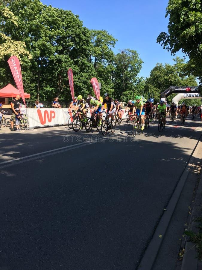 El ciclismo en ruta 13 de Skierniewice puede Skierniewice 2018 foto de archivo