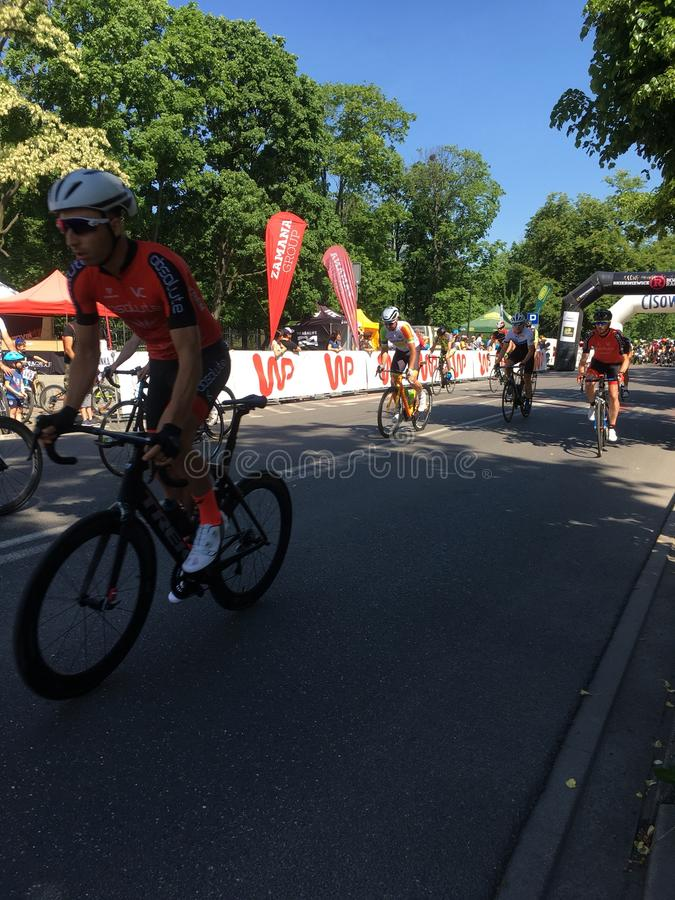 El ciclismo en ruta 13 de Skierniewice puede Skierniewice 2018 imágenes de archivo libres de regalías