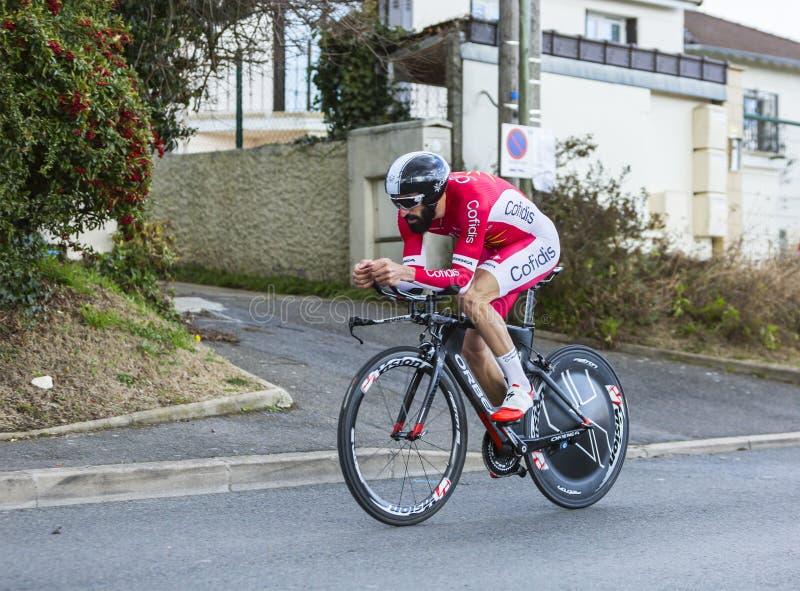 El ciclista Geoffrey Soupe - 2016 París-agradable foto de archivo