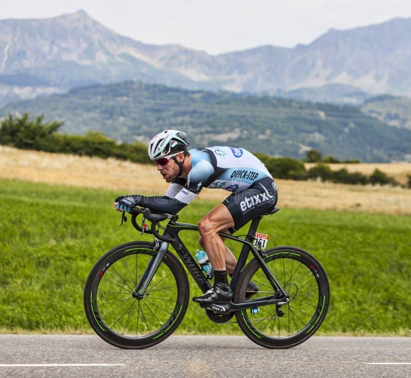 El Ciclista Mark Cavendish Imagen de archivo editorial