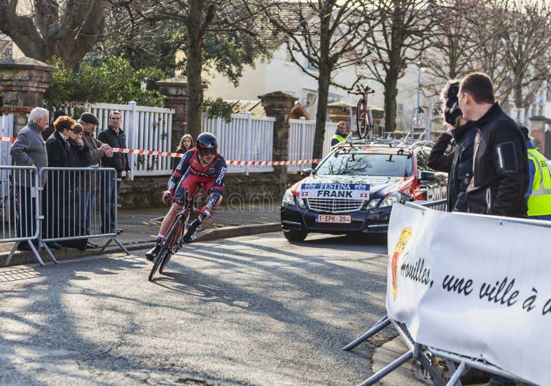 El Ciclista Matías Frank París Niza Prologu 2013 Foto editorial