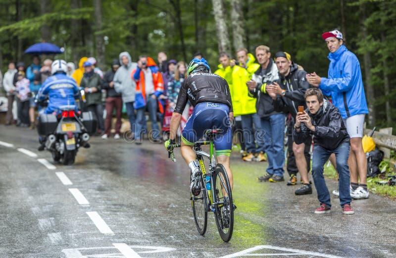 El ciclista Michael Albasini - Tour de France 2014 imagenes de archivo