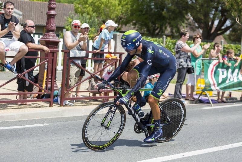 El ciclista Ruben Plaza Molina - Tour de France 2014 fotografía de archivo libre de regalías