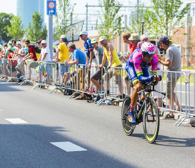 El ciclista Ruben Plaza Molina - Tour de France 2015 foto de archivo