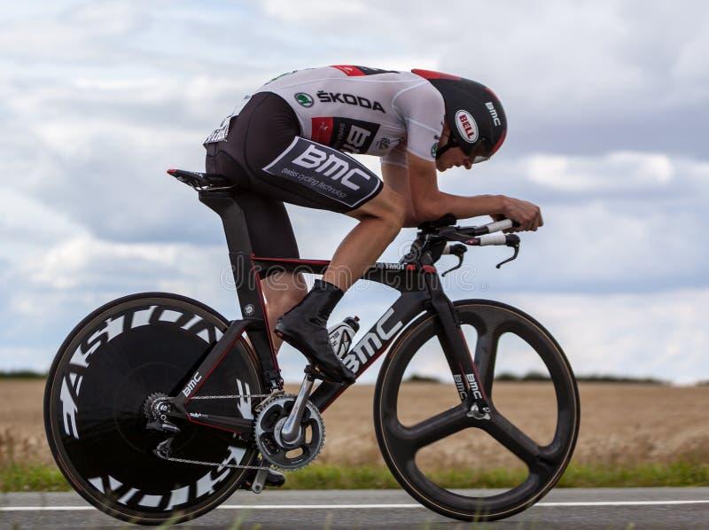 El ciclista Van Garderen Tejay foto de archivo libre de regalías