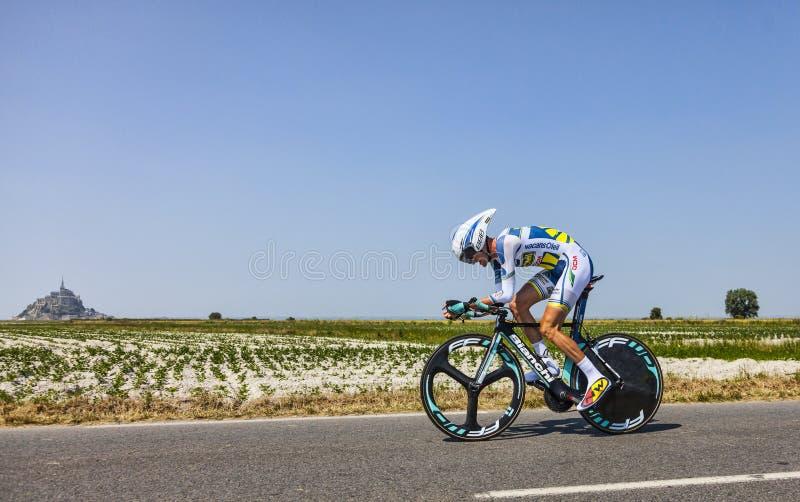 El Ciclista Wouter Poels Foto editorial