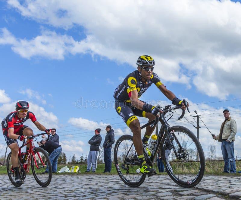 El ciclista Yohann Gene - París Roubaix 2016 fotografía de archivo libre de regalías