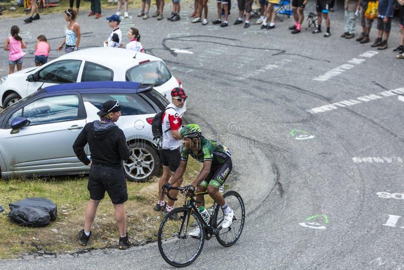 El ciclista Yohann Gene - Tour de France 2015 fotografía de archivo