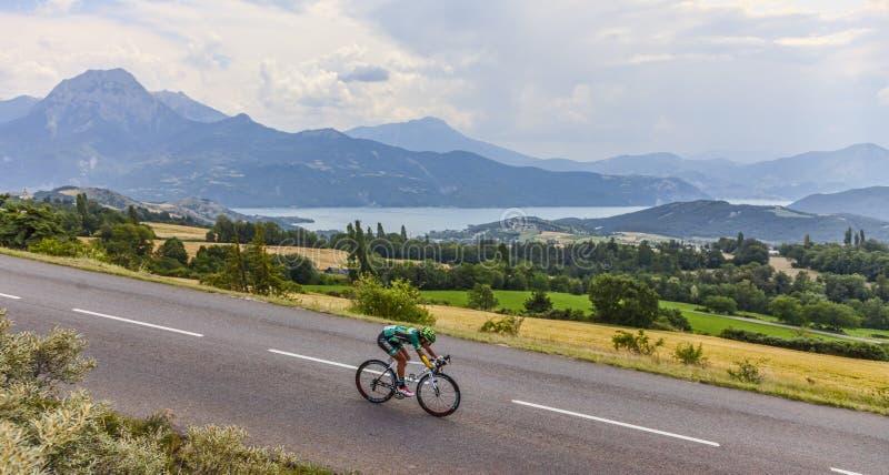 El ciclista Yukiya Arashiro fotografía de archivo libre de regalías
