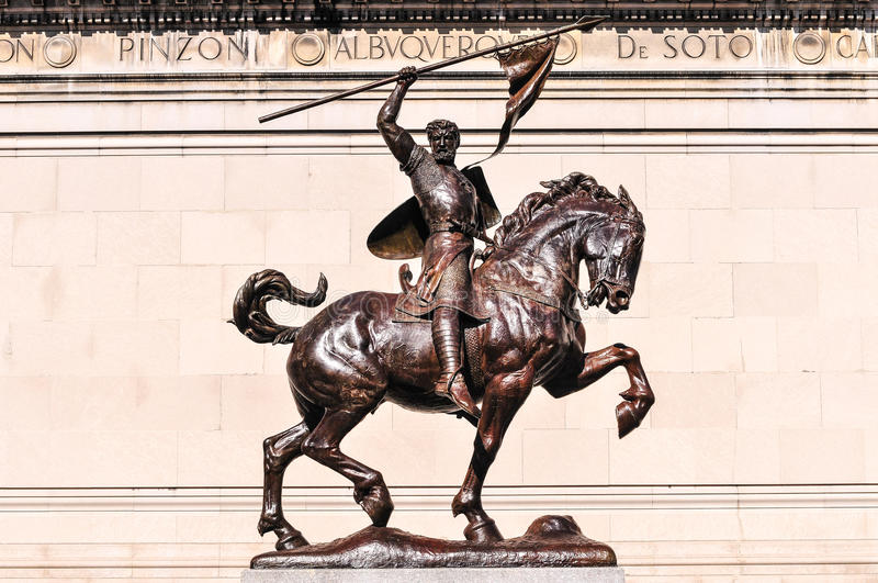 Download El Cid Equestrian Statue stock photo. Image of society - 39505942