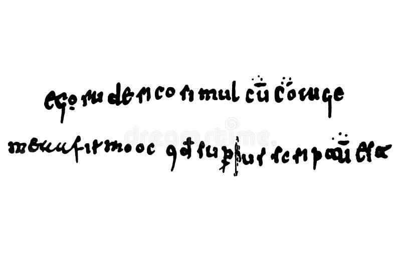 El Cid Rodrigo DÃaz de Vivar manuskript, 1098 fotografering för bildbyråer