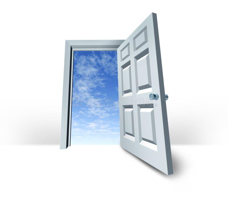 El cielo de la puerta es el éxito del umbral del límite stock de ilustración