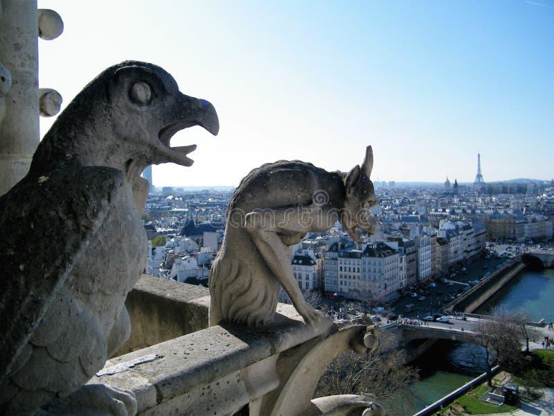 El cielo de París fotografía de archivo