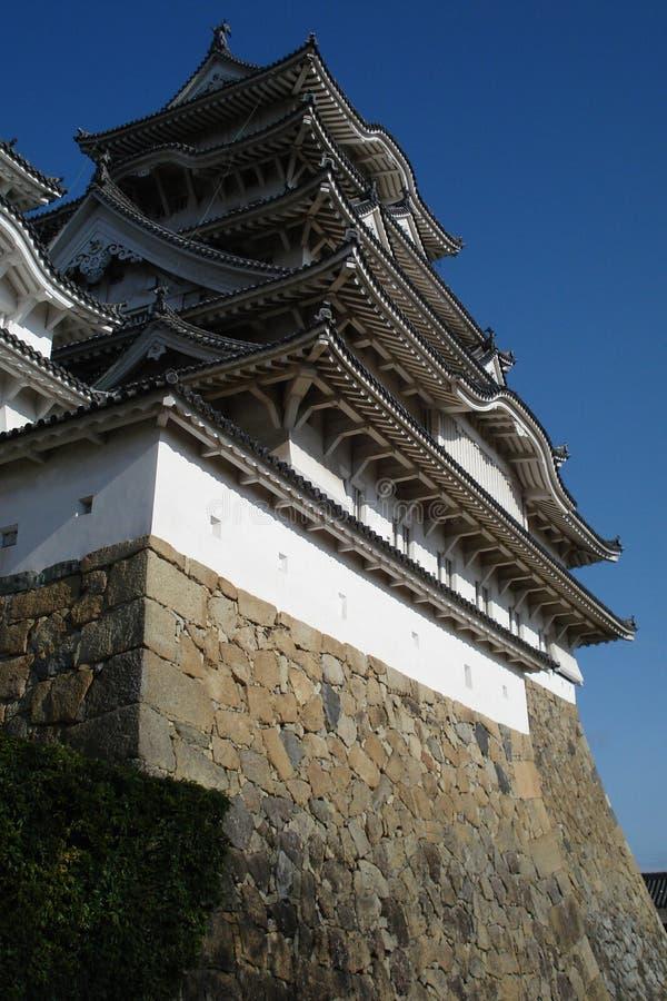 El cielo del castillo 03 de Himeji fotos de archivo libres de regalías