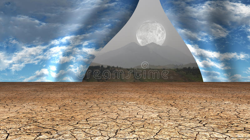 El cielo del desierto se abre libre illustration