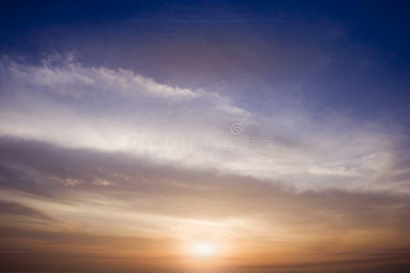 El cielo del océano foto de archivo libre de regalías
