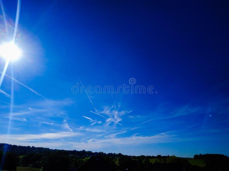 El cielo en Alemania fotografía de archivo libre de regalías