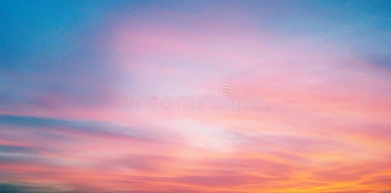 El cielo en la puesta del sol