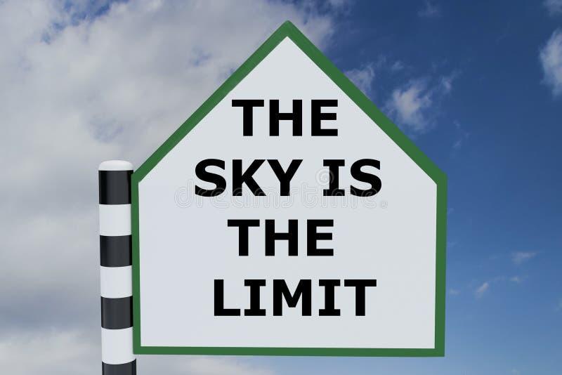 El cielo es el concepto del límite ilustración del vector
