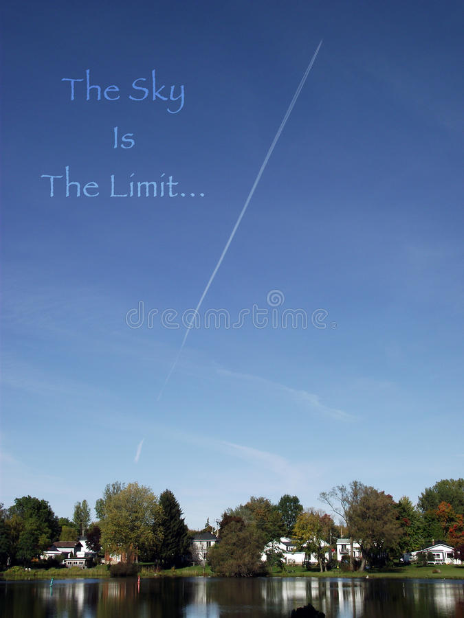 El cielo es el límite foto de archivo