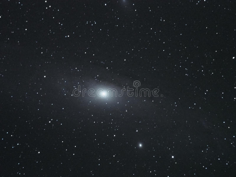 El cielo nocturno protagoniza la galaxia del Andromeda fotos de archivo libres de regalías
